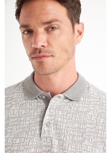 Avva Erkek  Polo Yaka Jakarlı  Tişört A01Y1040 Gri